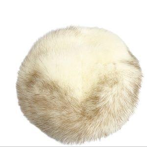 Vintage Fur Hat Mink Fur Beret Pill Box 1960s Chic